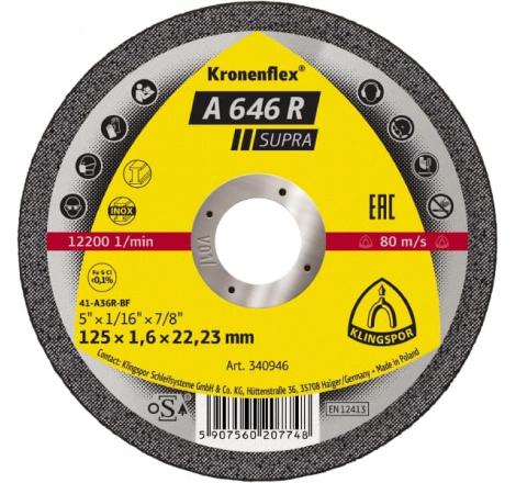DISQUE A TRONC 125X1.6 A 646 R