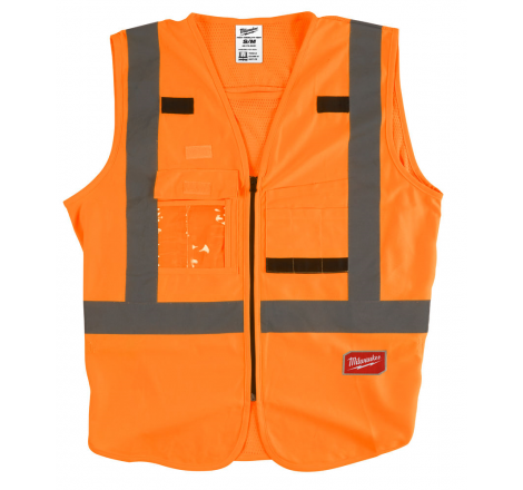 GILET HAUTE VISIBILIE ORANGE